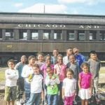 Kids with Burnsville Recreation and Learning Center visit NC Transportation Museum in Spencer